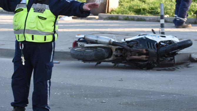 Мотоциклетист пострада при катастрофа в Плевен