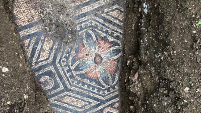 Римска мозайка беше открита под лозе в Северна Италия след