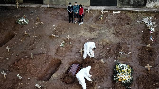 Смъртните случаи от COVID-19 в Бразилия вече са над 25 000
