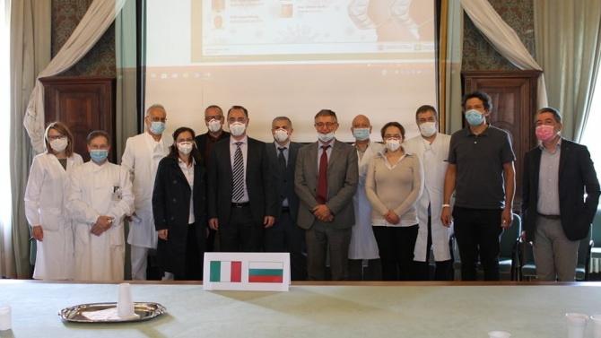 Лекари от ВМА обмениха идеи с италианските си колеги
