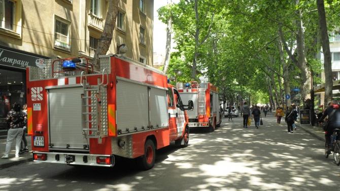 Неизвестен засега извършител е подпалил вратата на кантората на частния