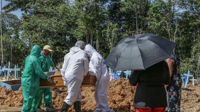 Над хиляда смъртни случая от коронавирус в Бразилия за 24 часа