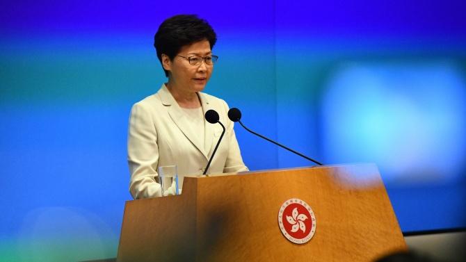 Главният администратор на Хонконг Кари Лам публикува писмо, в което