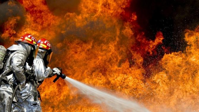 Потушен е пожарът в района на частната борса край петричкото