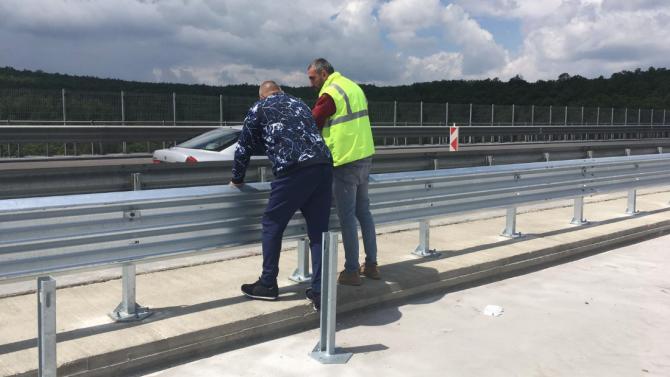 """Борисов с проверка на АМ """"Тракия"""", разкри кога ще приключи ремонта на виадукта на 20-и км"""