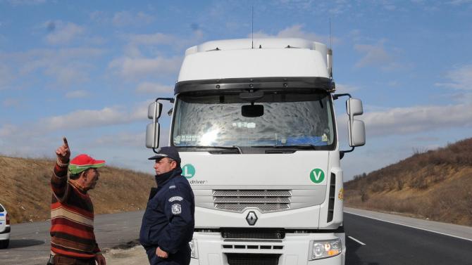 Аварирал  ТИР на пътя Велико Търново - Гурково