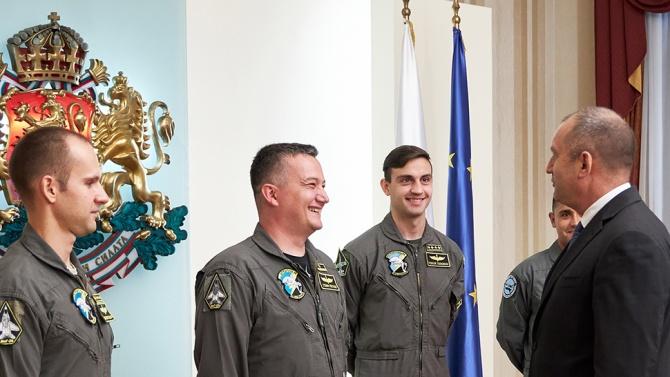 Президентът и върховен главнокомандващ на Въоръжените сили Румен Радев Румен