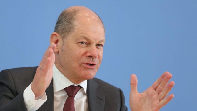 Германският министър на финансите и вицеканцлер Олаф Шолц посочи в