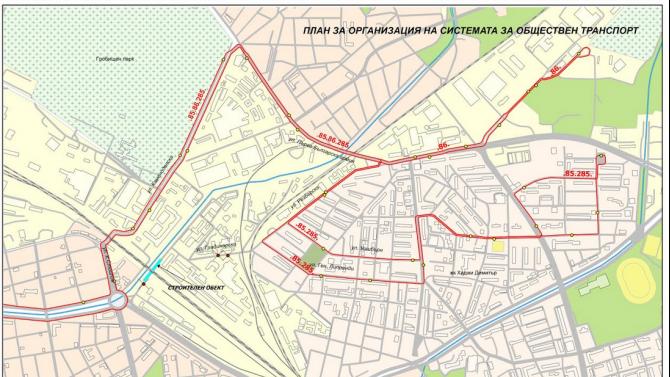 """Организация на движението във връзка със строително - монтажни дейности на жп мост над ул. """"Владайска река"""""""