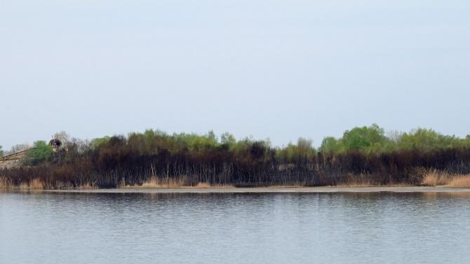 """Пожар избухна край Атанасовското езеро, близо до кв. """"Ветрен"""" в"""