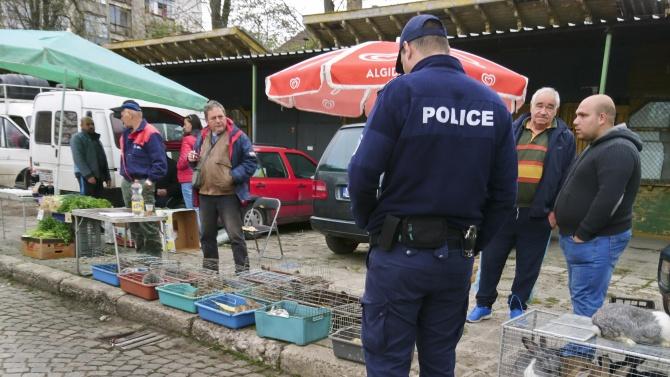 Протест на търговци на плодове и зеленчуци от борсата в Кърналово