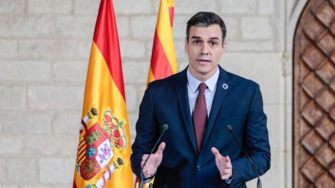 Испанският премиер Педро Санчес призова народа да продължи да се
