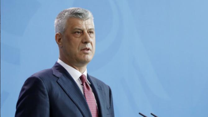 Косовският президент Хашим Тачи е обвинен във военни престъпления и