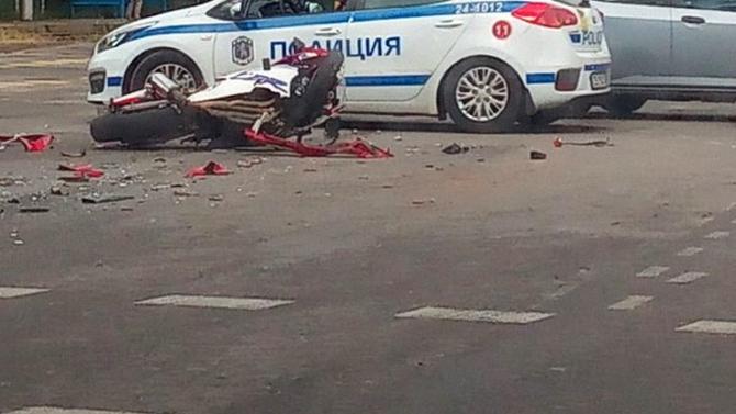 Жена е пострадала при катастрофа с мотоциклет по пътя Смолян