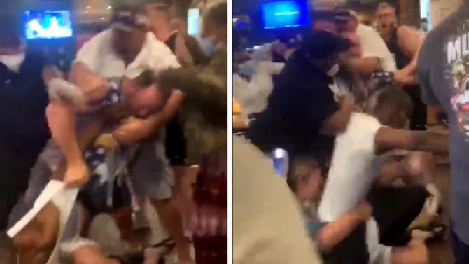 COVID-19 преобрази хората: посетители в бар се сбиха жестоко заради дистанцията