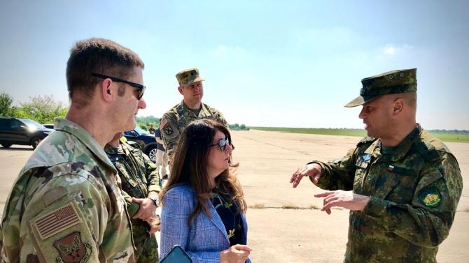 Херо Мустафа посети съвместно учение между наши и американски военни
