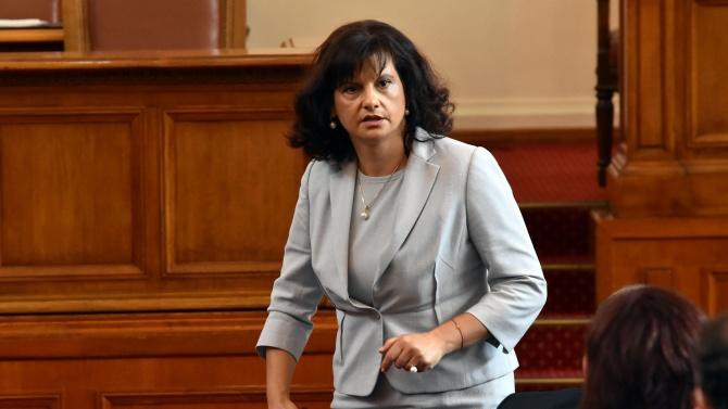 Дариткова: Не смятам, че намеренията на БСП за сваляне на кабинета са сериозни