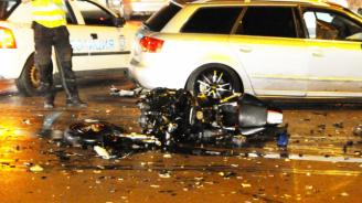 Двама младежи с опасност за живота след катастрофа с мотор