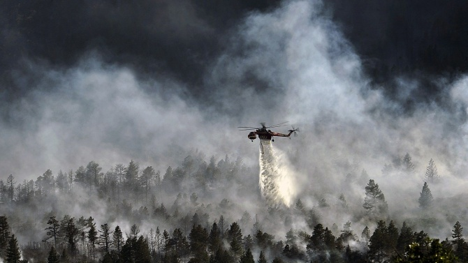 Четири военни самолета участват в гасене на горски пожари в Хърватия