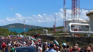 ДПС посрещна протестиращите