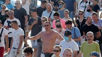 Протестиращи от центъра на София  нападнаха телевизионен екип