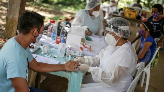 В Бразилия вчера бяха регистрирани 631 починали от Ковид-19 за