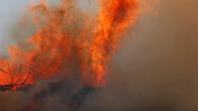 Близо 3000 декара смесена гора и бензиностанция са спасени при
