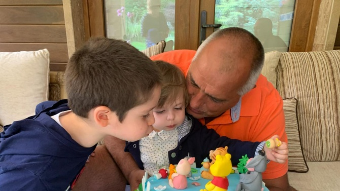 Борисов празнува рожден ден на малкия си внук Иван