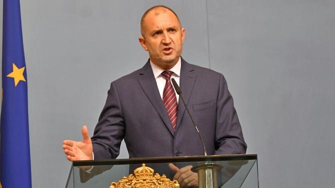 Румен Радев призова да се избягват провокациите и насилието на протестите