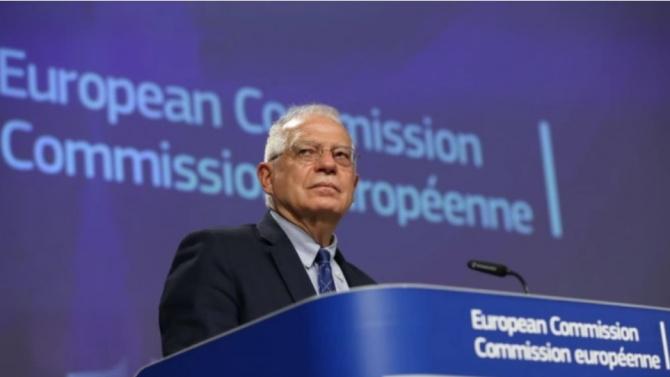 Върховният представител по външната политика и сигурността Жозеп Борел изрази