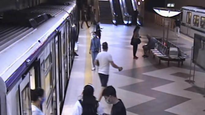 МВР показа как бившият депутат Минчо Спасов и още двама блокираха метрото