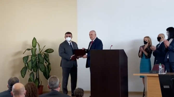 Главният прокурор Иван Гешев награди Младен Маринов