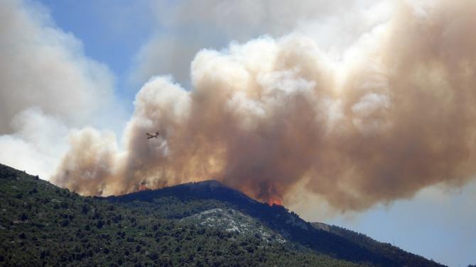 Силен пожар избухна в планината Козяк в централната част на