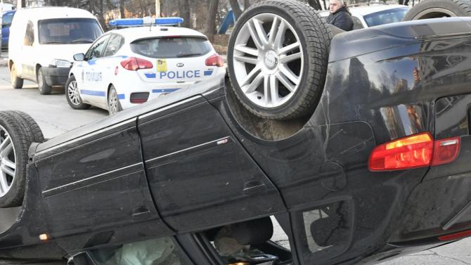 Вчера около 14:00 ч. на пътя за село Николовое катастрофирал