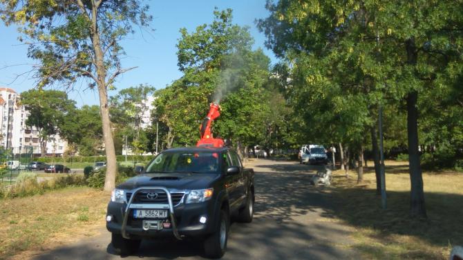 През август продължава пръскането против комари в Бургас