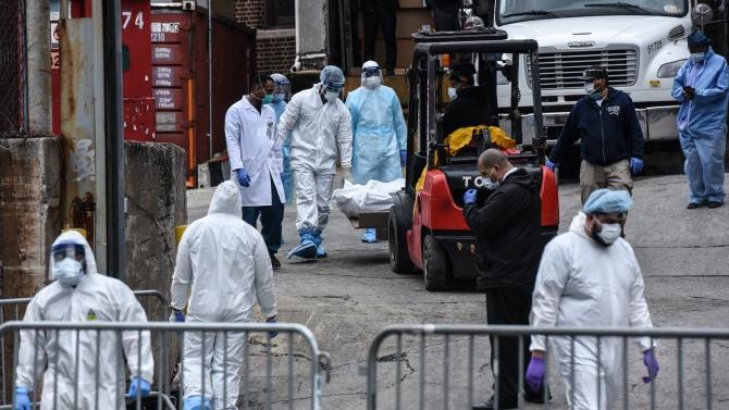 В САЩ регистрираха 1262 нови смъртни случая, свързани с COVID-19