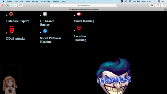 Заловиха Instakilla, хаквал сайтове и искал откуп в крипто-валута