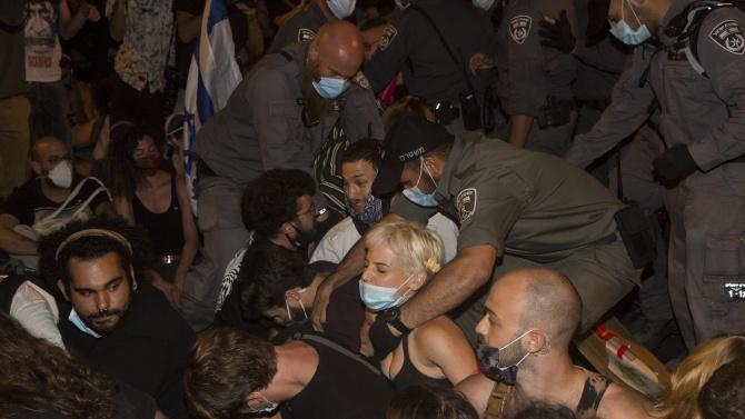 Хиляди протестират против премиера Нетаняху в Ерусалим
