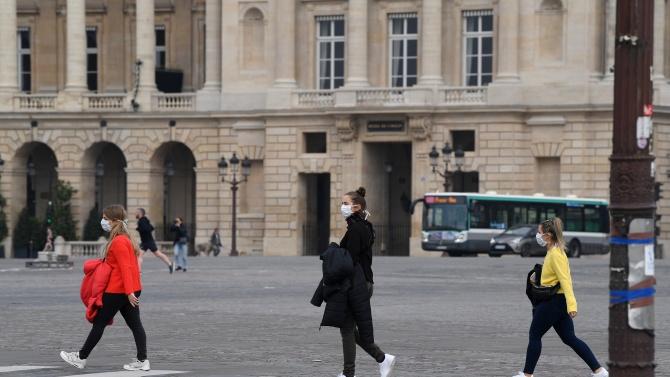 редпазни маски трябва да се носят на открито в Париж