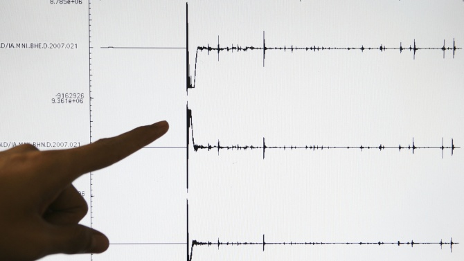 Земетресение разлюля  Северна Каролина