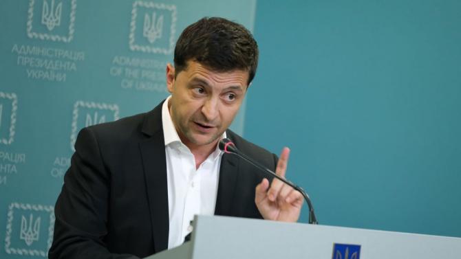Президентът на Украйна Володимир ЗеленскиВолодимир Зеленски е украински артист, сценарист,