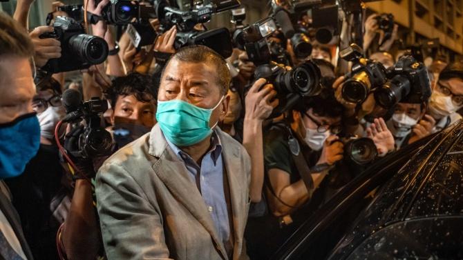 Хонконгският медиен магнат Джими Лай е освободен под гаранция