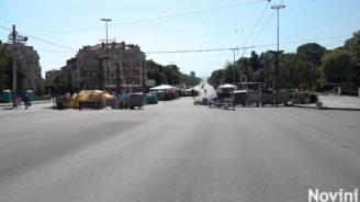 Блокадата на Орлов мост продължава