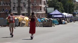 Вижте София днес: Блокадите продължават