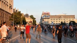 Продължава протестът и блокадите в центъра на София