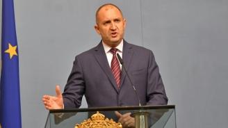 Румен Радев ще направи обръщение към нацията