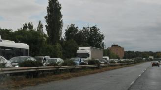 """Протестиращи блокираха """"Хаинбоаз"""", стигна се до сблъсъци при опит за блокада на пътя за"""