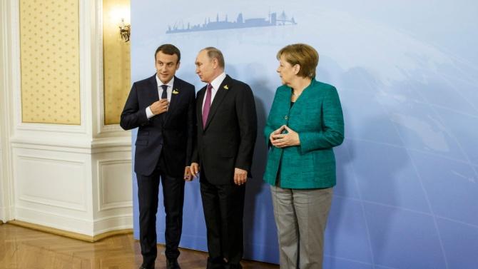 Путин предупреди Макрон и Меркел: Натискът върху Беларус е недопустим