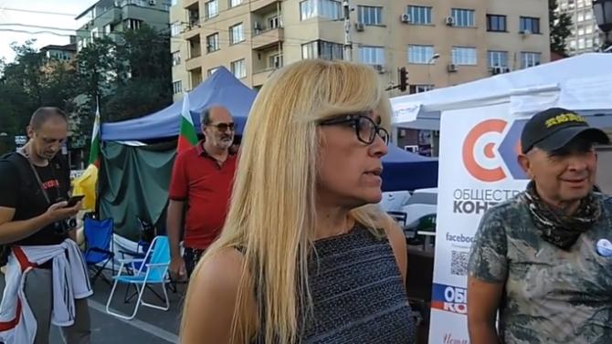 Съдът пуснал Иванчева на лекар по спешност, а тя отишла на протест