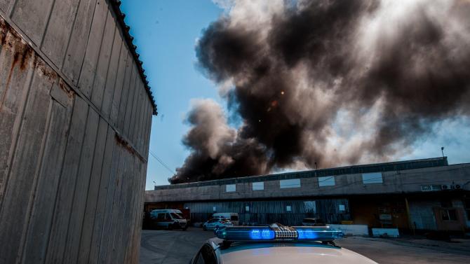 Пожар в цех за матраци в Ямбол